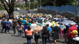 Los defensores del medio ambiente recorrieron  las calles del centro de Tegucigalpa.